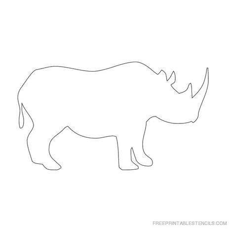 print templates free rhinoceros stencil printable designs free printable stencils