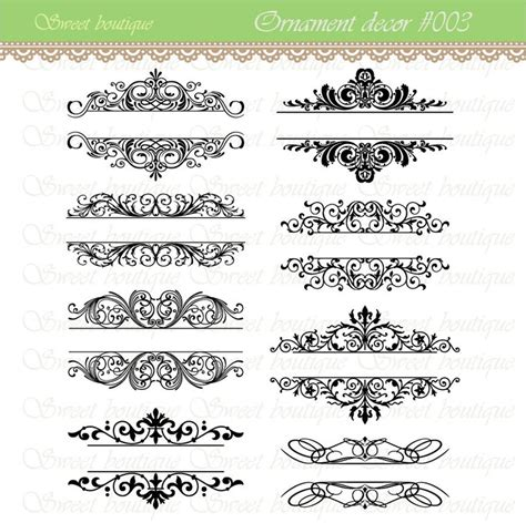 vintage calligraphy clip clipart diy wedding invitation designs scrapbook embellishment text