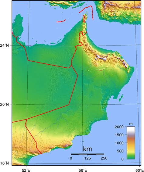 dubai geography map geography of oman