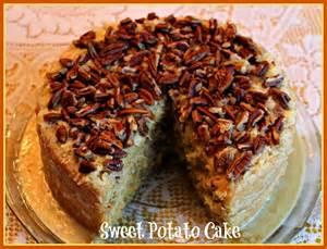sweet tea and cornbread sweet potato cake