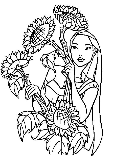 disney coloring book printable coloring pages for disney princess pocahontas