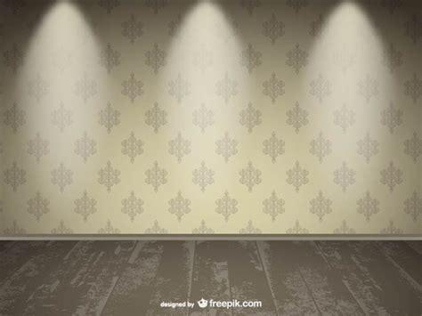 realistic empty wall spotlight design vector free download