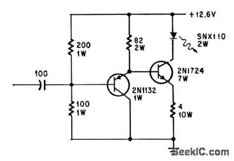 light emitting diode circuit diagram two transistor modulator for light emitting diode control circuit circuit diagram seekic