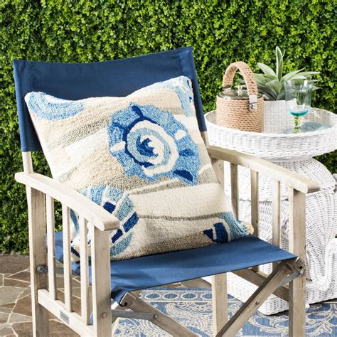 Safavieh Outdoor by Safavieh Beyond The Sea Soleil Square Outdoor Throw Pillow