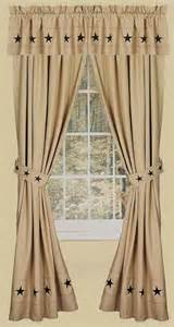Primitive Window Curtains Danville 2 Curtain Window Panels Primitive Country Nutmeg Creme