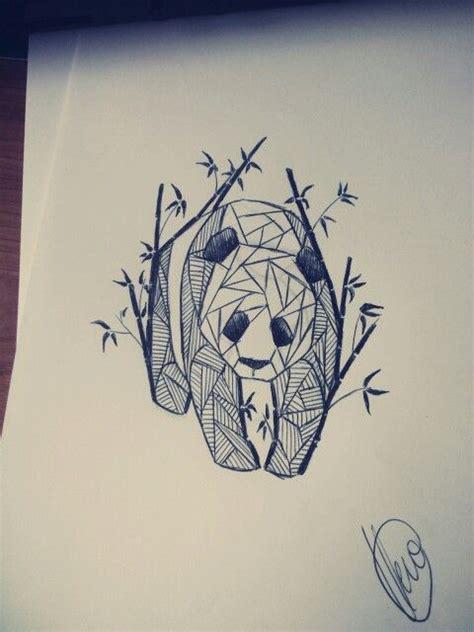 panda tattoo abstract geometric panda sketch panda pandatattoo pandabamboo
