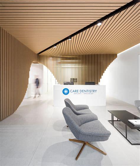 design modern dental clinic in sydney built around a sculptural wooden