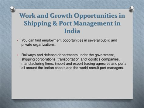 Executive Mba Criteria In India by M B A In Shipping And Port Management 2 Years Course