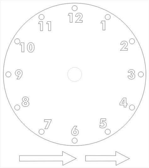 Free Worksheets 187 Clock Template Free Math Worksheets For Kidergarten And Preschool Children Clock Craft Template