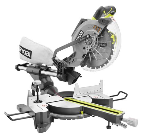 ryobi 10 inch sliding compound miter saw with laser the
