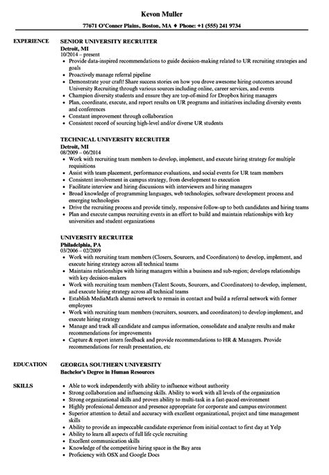 Pretty Sle Recruiter Resume Images Gt Gt Senior Recruiter Headhunter Contract Template