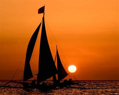 Late Sunset Sail Boat Sunset Of Sailboat Sunset Sailboat Sunset Series Boracay