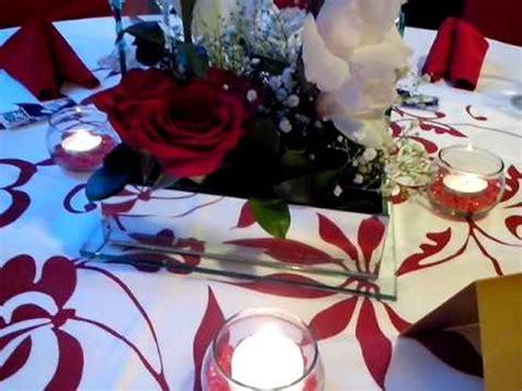 imagenes bodas en blanco y rojo centro de mesa boda rojo con blanco youtube