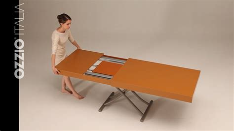 primmer expanding table youtube expanding coffee table newood by ozzio italia space