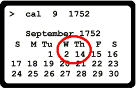 Cheminée De Table 1752 by Calendar Sep 1752 New Calendar Template