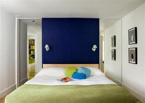 painting tiny bedroom with royal blue accent wall painting colors ideas for room