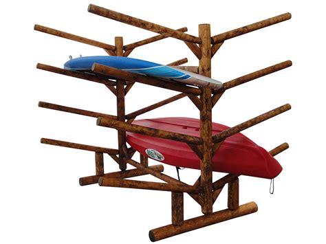 Eight Rack by 8 Place Kayak Rack Kayak Storage Rack Log Kayak Racks