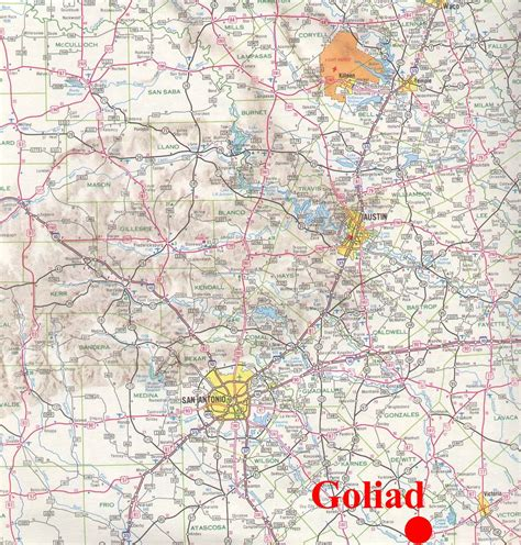 where is goliad texas on the texas map goliad texas