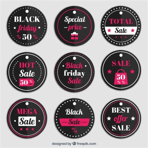 the images collection of vector round label victorian round vintage collection of round labels for black friday vector free