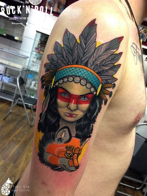 native american amp fox best tattoo design ideas