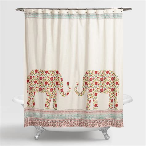 indian shower curtains indian elephants indra shower curtain world market