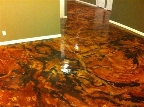 Best 97 Acid Stained Concrete Floors images on Pinterest
