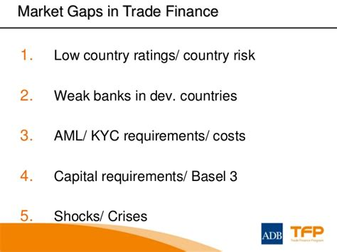 kyc requirements for banks the importance of trade finance to economic growth