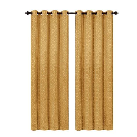 Gold Grommet Curtains Gold Grommet Panels Images
