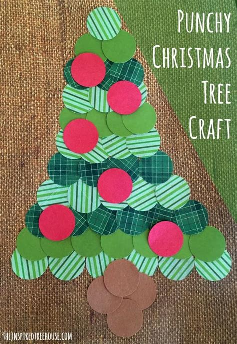 christmas paper crafts for kids punchy christmas tree