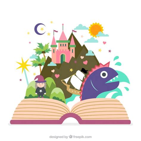 libro childrens writers artists libro de cuentos de hadas descargar vectores gratis