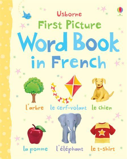 libro childrens french book my first picture word book in french a bright and lively way for little children to start learning