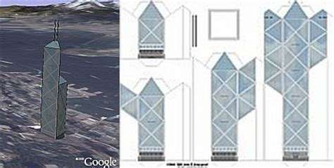 How To Make A Skyscraper Out Of Paper - make a 3d building in earth using paper drawing