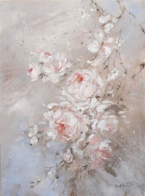 shabby chic romantic blush roses original painting by debi coules make it shabby chick