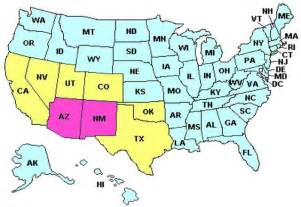 us map with arizona where is arizona in the southwest