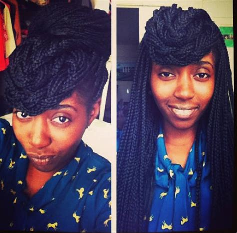 box braids with bang in back braids on braids on braids un ruly