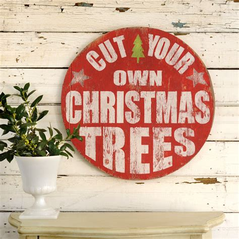 christmas tree sign retro cut your own christmas by