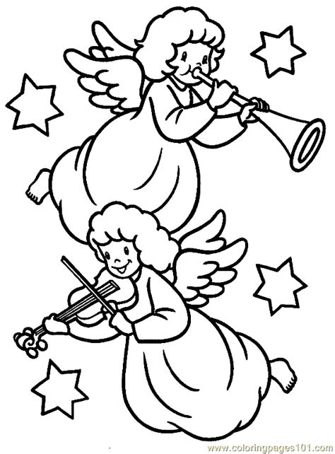 christmas angel coloring page 04 coloring page free
