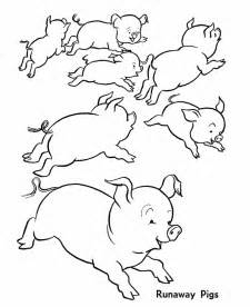 pig colouring pages 3
