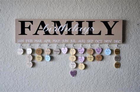 Handmade Wall Hanging For Birthday - family birthdays wall hanging craftiness