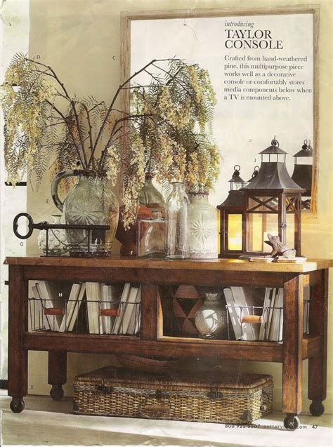 Pottery Barn Entry Table by Pottery Barn Entry Console Table Storage House Ideas