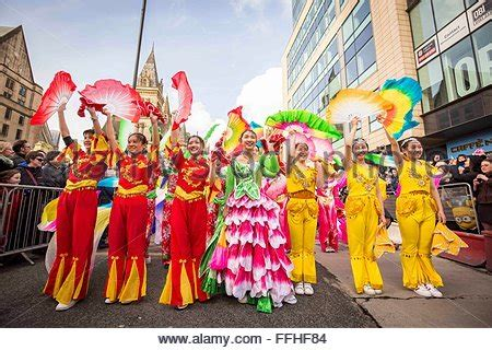 new year parade today new year manchester uk 4th feb 2016 dancers