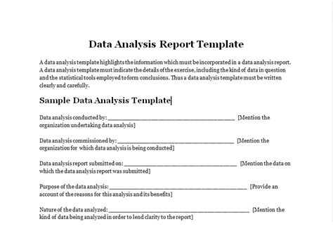 Data Analysis Report Template Excel Tmp Data Analysis Report Template Excel