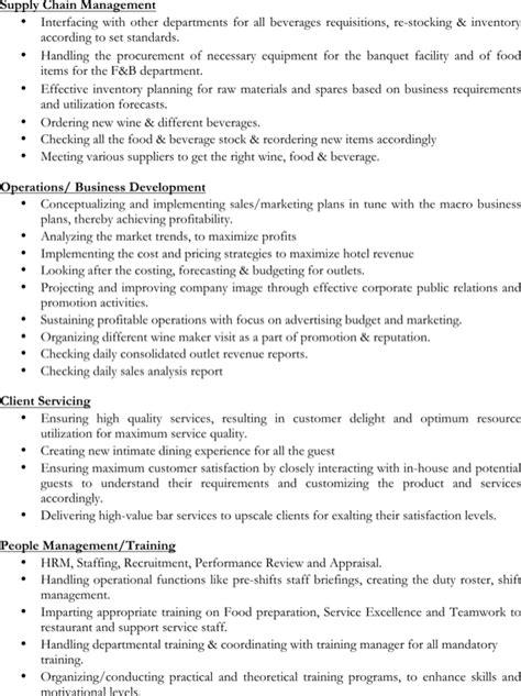 restaurant shift manager resume exles restaurant shift manager resume for free page 3 formtemplate