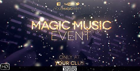 magic music event special events after effects templates
