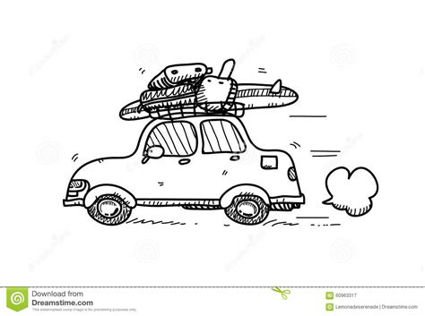 Car Doodle Stock Vector Image 60963317
