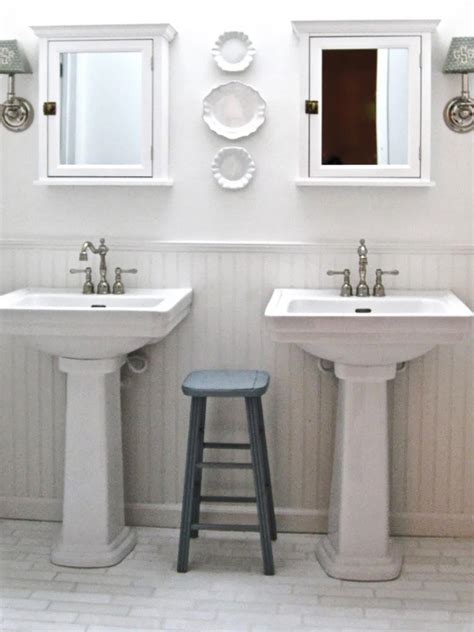 dual sinks small bathroom shabby chic bathroom designs pictures ideas from hgtv