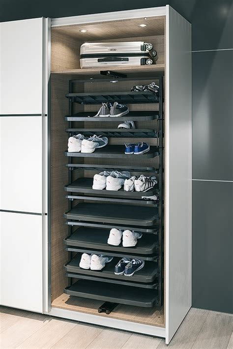 Shoe Rack Extending & 180° Rotating for Tall Cabinets