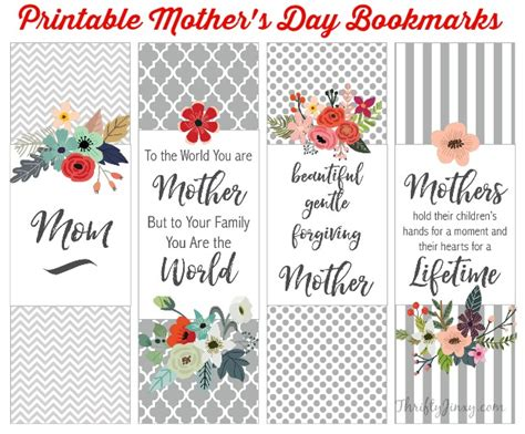 printable bookmarks mother s day mother s day books mom will love printable bookmarks