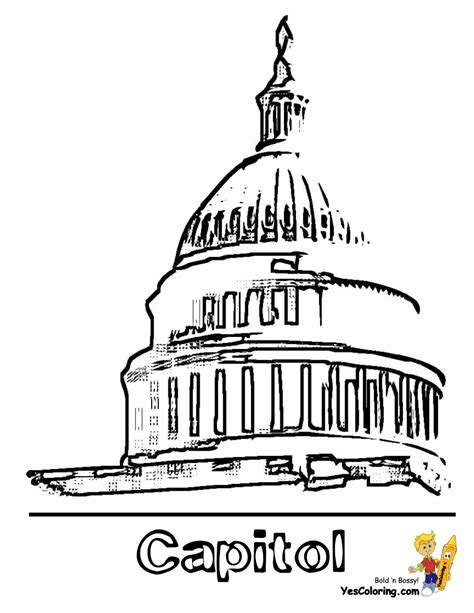 united states capitol building coloring page patriotic 4th of july coloring pages july 4th free