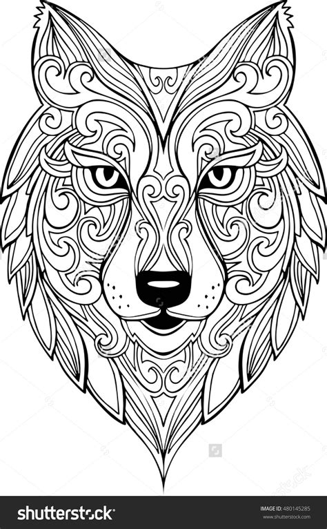 coloring books for wolves more advanced animal coloring pages for teenagers tweens boys zendoodle animals wolves practice for stress relief relaxation books vector doodle wolf illustration zentangle